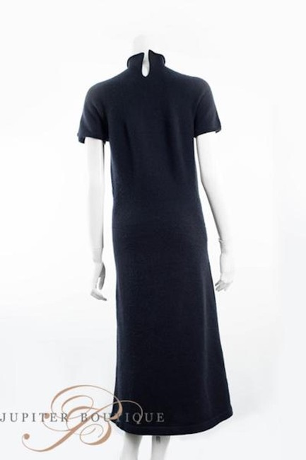 Navy Blue Maxi Dress by Chanel Cashmere One Piece Elegant Image 2