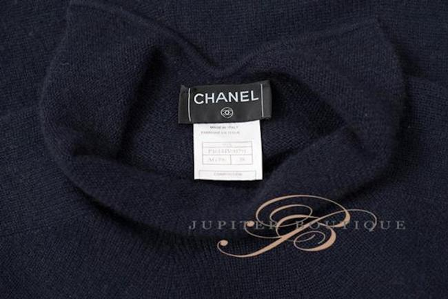 Navy Blue Maxi Dress by Chanel Cashmere One Piece Elegant Image 5