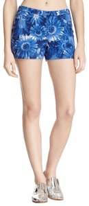 Hue Stretchy Pockets Mini/Short Shorts Blue Floral
