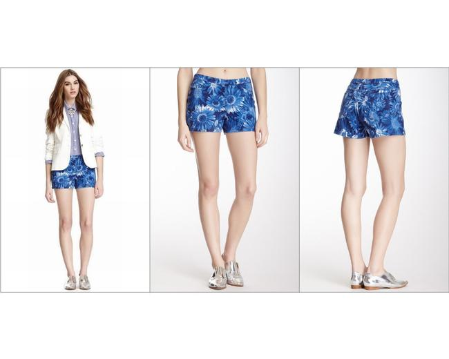 Hue Stretchy Pockets Mini/Short Shorts Blue Floral Image 2