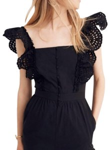 e6c968c3f015 Madewell Dress. Madewell Black Frilly Sleeve Eyelet Romper Jumpsuit
