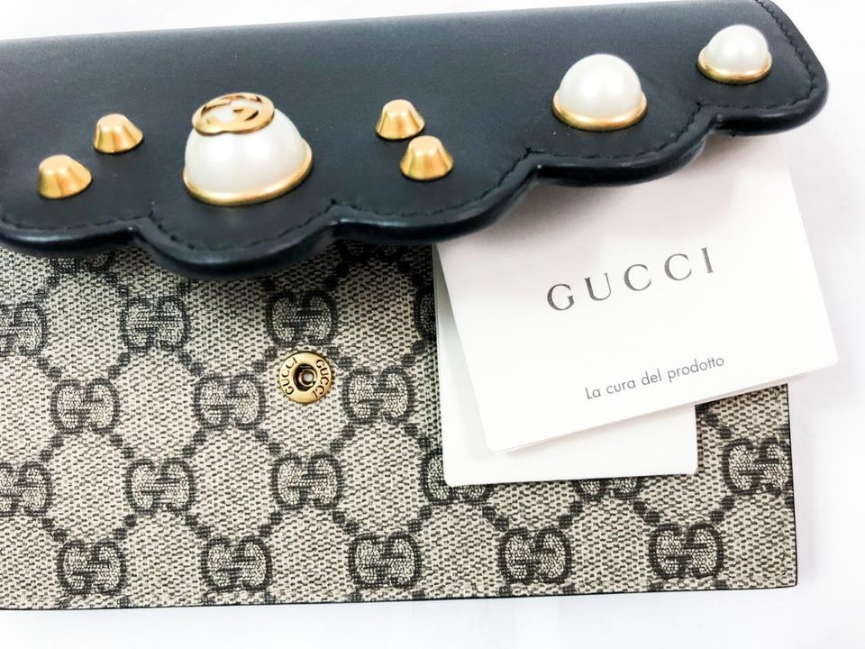 45510a409d917c Gucci Pearl Wallet On Chain Crossbody Gg Supreme Shoulder Bag Image 9.  12345678910