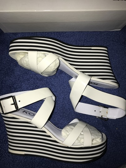 Michael Kors Black and White Wedges Image 2