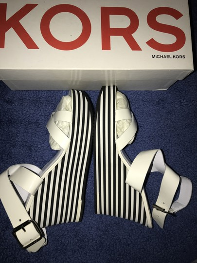 Michael Kors Black and White Wedges Image 3