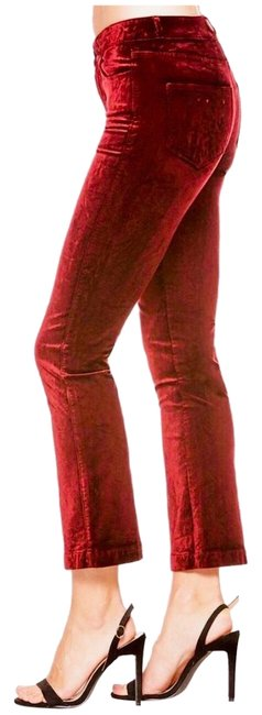 Preload https://img-static.tradesy.com/item/24859727/paige-maroon-crushed-velvet-rouge-dark-magenta-coated-capricropped-jeans-size-0-xs-25-0-1-650-650.jpg