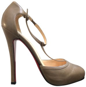 Christian Louboutin Catwoman Vintage T-bar Taupe Pumps