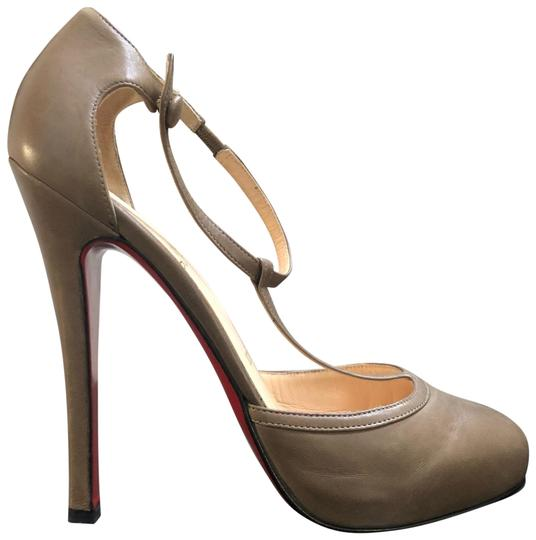 Preload https://img-static.tradesy.com/item/24859735/christian-louboutin-taupe-catwoman-140-t-strap-ankle-strap-gray-pumps-size-eu-38-approx-us-8-regular-0-1-540-540.jpg