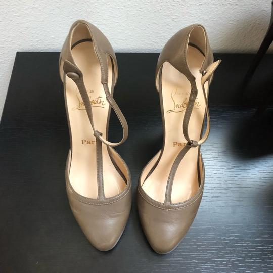 Christian Louboutin Catwoman Vintage T-bar Taupe Pumps Image 1
