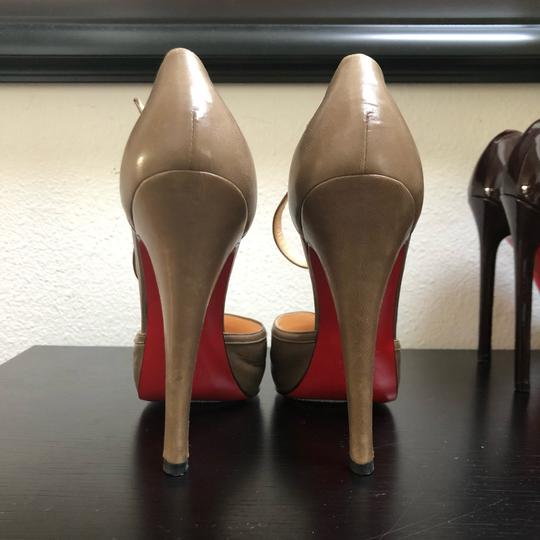Christian Louboutin Catwoman Vintage T-bar Taupe Pumps Image 2