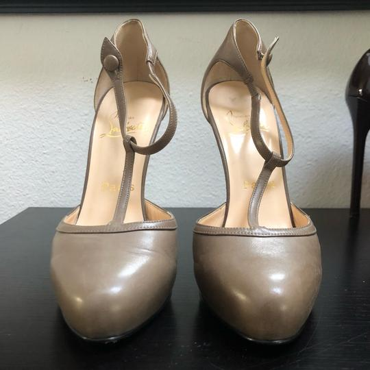 Christian Louboutin Catwoman Vintage T-bar Taupe Pumps Image 3