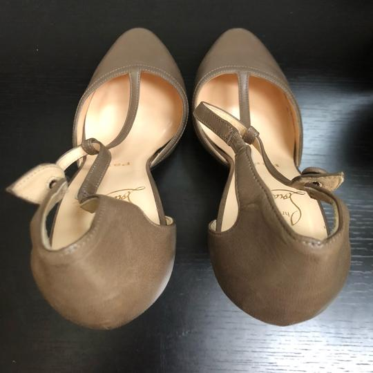 Christian Louboutin Catwoman Vintage T-bar Taupe Pumps Image 4