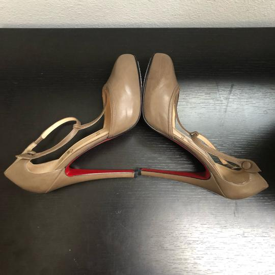 Christian Louboutin Catwoman Vintage T-bar Taupe Pumps Image 6