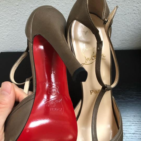 Christian Louboutin Catwoman Vintage T-bar Taupe Pumps Image 7
