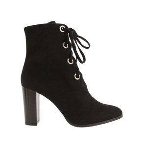 L.K. Bennett Suede Duchess Of Cambridge Lace Up Sold Out Black Boots