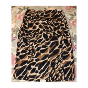 Express Skirt black and tan