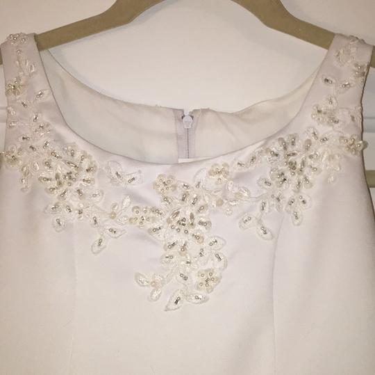 Mary's Bridal Youth White Polyester and Tulle Girl Flower Formal Bridesmaid/Mob Dress Size 8 (M) Image 2