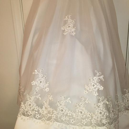 Mary's Bridal Youth White Polyester and Tulle Girl Flower Formal Bridesmaid/Mob Dress Size 8 (M) Image 4