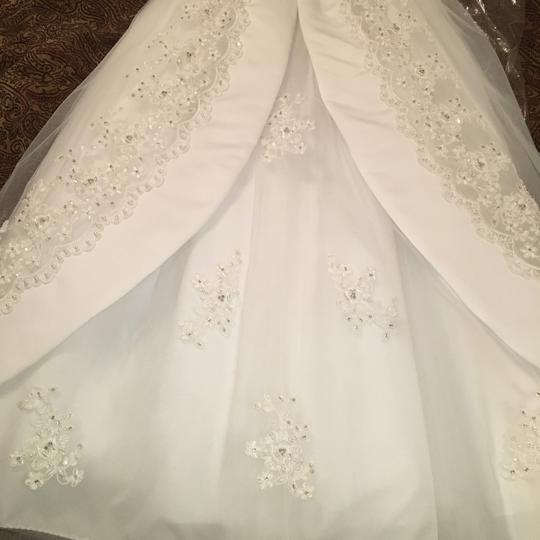 Mary's Bridal Youth White Polyester and Tulle Girl Flower Formal Bridesmaid/Mob Dress Size 8 (M) Image 8