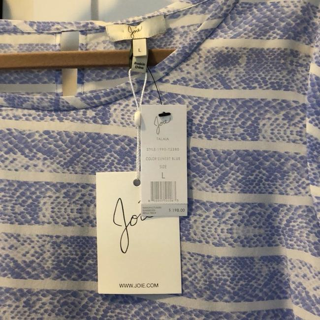 Joie Top Periwinkle blue / white Image 2