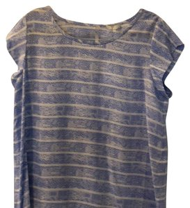Joie Top Periwinkle blue / white