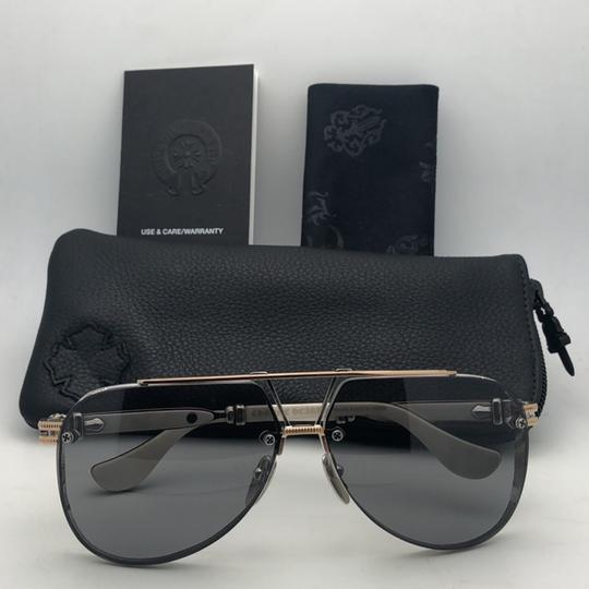 Chrome Hearts CHROME HEARTS Sunglasses POSTYANK BS/GP-WEPV Silver Gold Ebony Wood Image 1