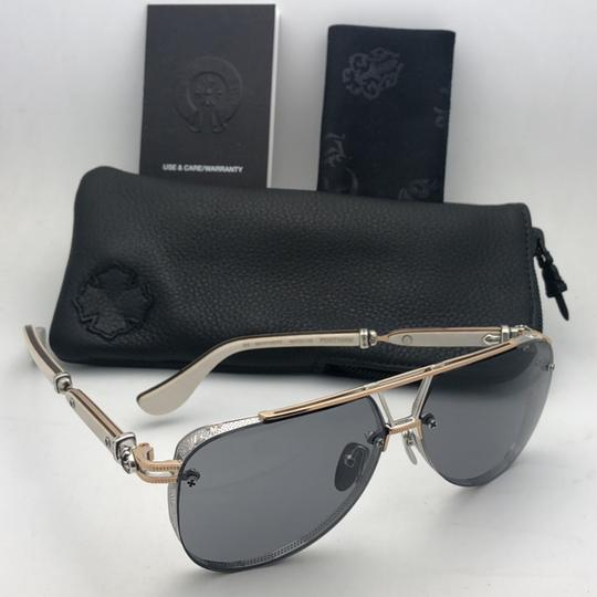 Chrome Hearts CHROME HEARTS Sunglasses POSTYANK BS/GP-WEPV Silver Gold Ebony Wood Image 2