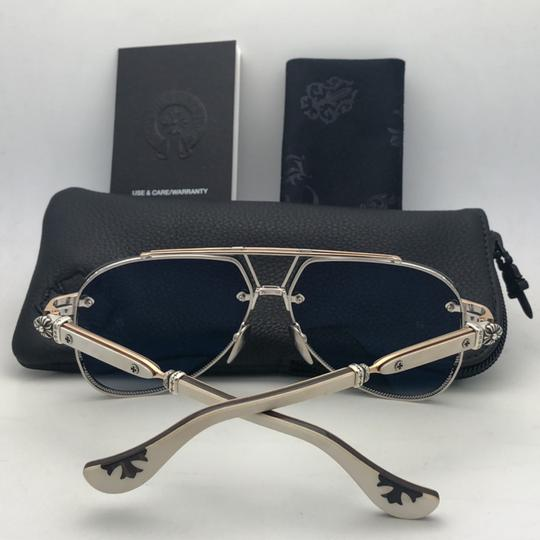 Chrome Hearts CHROME HEARTS Sunglasses POSTYANK BS/GP-WEPV Silver Gold Ebony Wood Image 3