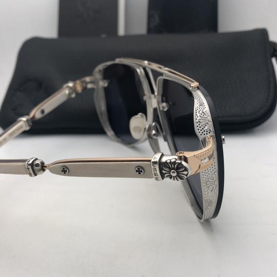 Chrome Hearts CHROME HEARTS Sunglasses POSTYANK BS/GP-WEPV Silver Gold Ebony Wood Image 5