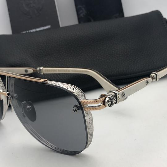 Chrome Hearts CHROME HEARTS Sunglasses POSTYANK BS/GP-WEPV Silver Gold Ebony Wood Image 8