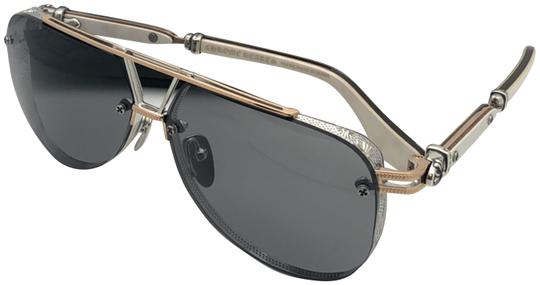 Chrome Hearts CHROME HEARTS Sunglasses POSTYANK BS/GP-WEPV Silver Gold Ebony Wood Image 0