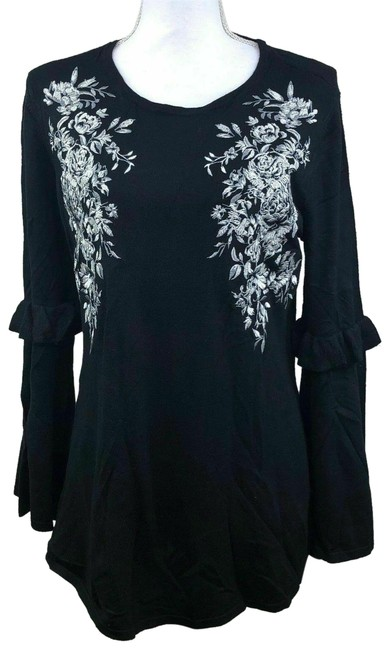 Preload https://img-static.tradesy.com/item/24859879/alfani-women-s-embroidered-swing-deep-medium-black-sweater-0-1-650-650.jpg
