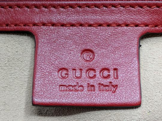 Gucci Dionysus Gg Supreme Matelasse Marmont Tote in Red Image 10