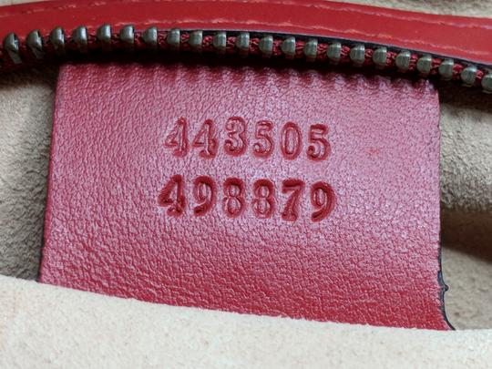 Gucci Dionysus Gg Supreme Matelasse Marmont Tote in Red Image 11