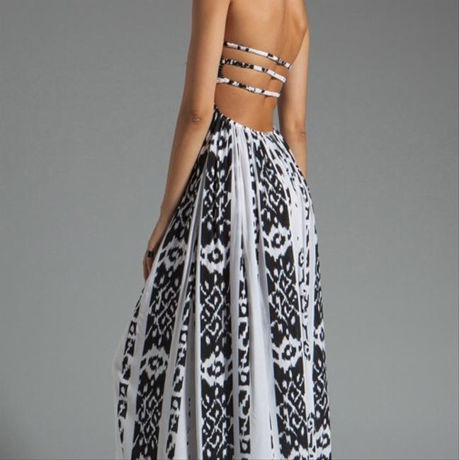 Black and White Ikat Maxi Dress by Indah Image 3