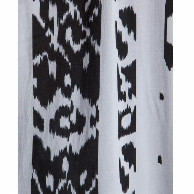 Black and White Ikat Maxi Dress by Indah Image 4