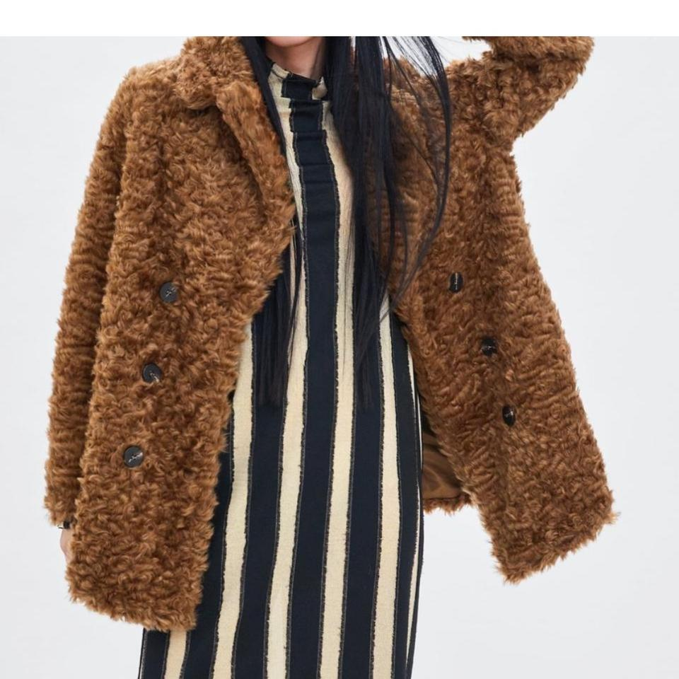 7fd8d94b Zara Brown New with Tags Faux Wrap Coat Size 8 (M) 37% off retail