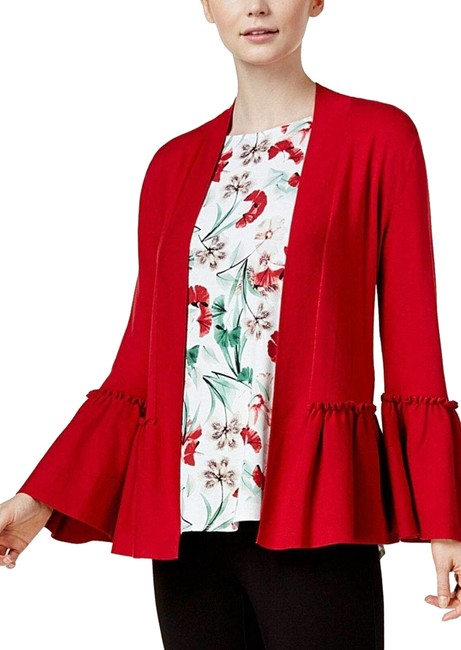 Preload https://img-static.tradesy.com/item/24860064/alfani-red-womens-open-front-ruffled-sweater-cardigan-size-16-xl-plus-0x-0-1-650-650.jpg