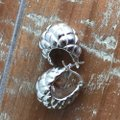OTC Sterling Silver Quilted Puffy Shrimp Hoop Earrings Image 4