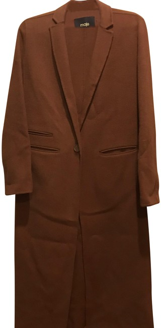 Preload https://img-static.tradesy.com/item/24860267/maje-tan-camel-galaxie-wool-coat-size-os-one-size-0-3-650-650.jpg