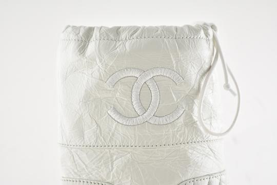 Chanel Tweed Glitter Quilted Chain white Boots Image 2