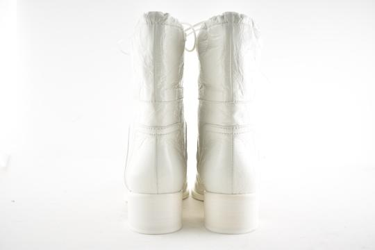 Chanel Tweed Glitter Quilted Chain white Boots Image 10