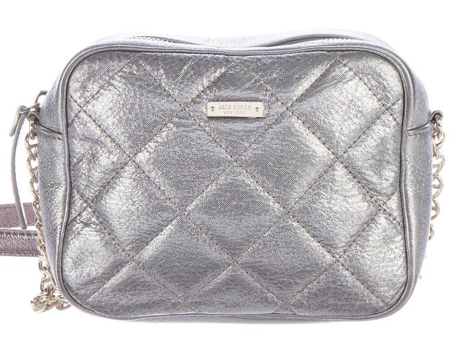 Item - Box Lauralee Coast Quilted Chain Link Square Mini Frame Silver Metallic Gold Leather Cross Body Bag