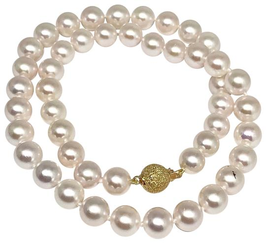 Estate Certified 3950 Ladys Akoya Pearl 8Mm 16 Inch 14Kt Yellow Gold 10813 Image 1