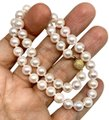 Estate Certified 3950 Ladys Akoya Pearl 8Mm 16 Inch 14Kt Yellow Gold 10813 Image 2