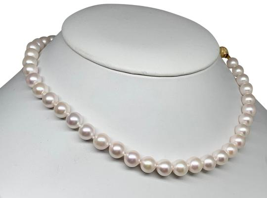 Estate Certified 3950 Ladys Akoya Pearl 8Mm 16 Inch 14Kt Yellow Gold 10813 Image 4