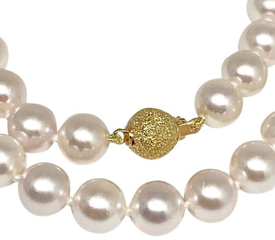 Estate Certified 3950 Ladys Akoya Pearl 8Mm 16 Inch 14Kt Yellow Gold 10813 Image 5