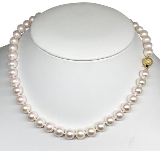 Estate Certified 3950 Ladys Akoya Pearl 8Mm 16 Inch 14Kt Yellow Gold 10813 Image 6