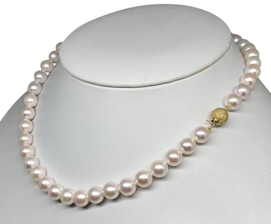 Estate Certified 3950 Ladys Akoya Pearl 8Mm 16 Inch 14Kt Yellow Gold 10813 Image 7
