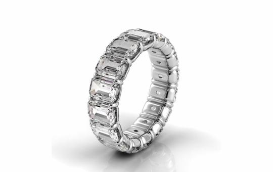 Preload https://img-static.tradesy.com/item/24860314/white-gold-30-tcw-emerald-diamond-petite-prong-set-eternity-band-in-ring-0-0-540-540.jpg