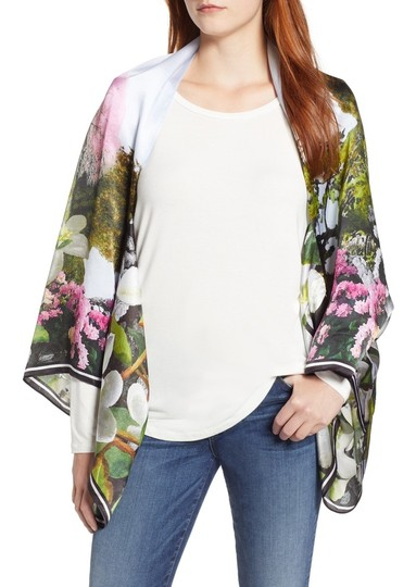 Ted Baker Ted Baker Averry Windermere Silk Cape Scarf Image 1